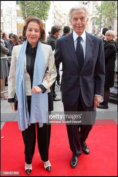 JeanPierre Marcie Riviere and his wife at Premiere Of Film 'Faubourg 36' At Ugc Normandie In Benefit Of Claude Pompidou Foundation