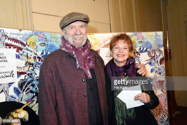 JeanPierre Marielle and his wife Agathe Natanson attend Gala D'Enfance Majuscule 2017 Charity Gala At Salle Gaveau on March 20 2017 in Paris France