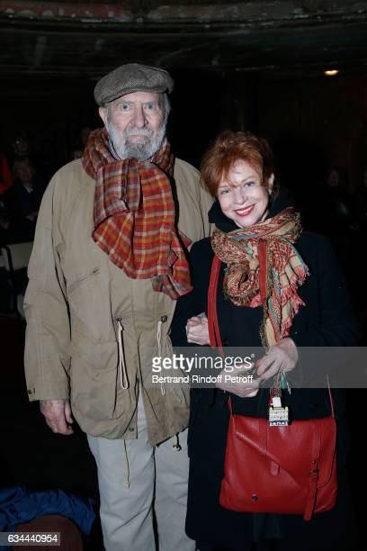 JeanPierre Marielle and his wife Agathe Natanson attend Gerard Depardieu sings Barbara accompanied on the piano of Barbara by Gerard Daguere who was...
