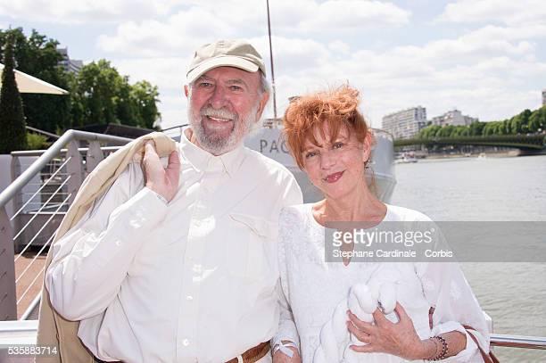 JeanPierre Marielle and his Wife Agathe Natanson attend the 3th White Brunch by Yachts de Paris and La petite Maison de Nicole in Paris
