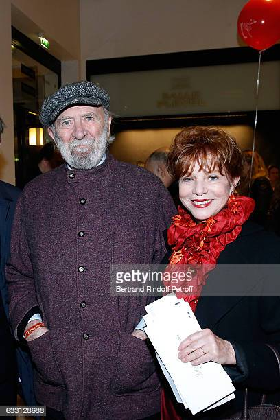 JeanPierre Marielle and his wife Agathe Natanson attend the Charity Gala against Alzheimer's disease at Salle Pleyel on January 30 2017 in Paris...