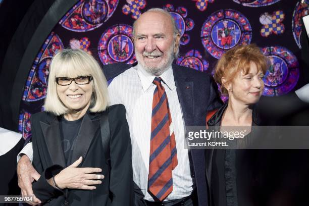 JeanPierre Marielle and Mireille Darc attend 'Sister Act The Musical' Gala Premiere at Theatre Mogador on September 20 2012 in Paris France