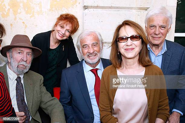 JeanPierre Marielle his wife Agathe Natanson JeanPaul Belmondo Nathalie Baye and Guy Bedos attend Museum Paul Belmondo celebrates its 5th Anniversary...