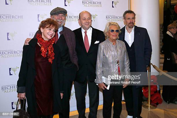 JeanPierre Marielle his wife Agathe Natanson President of the Association for Alzheimer Research Doctor Olivier de Ladoucette Member of the Honor...