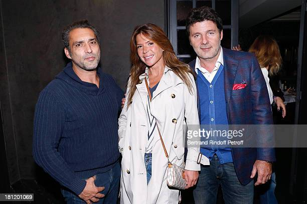 JeanPierre Martins Alexandra Genoves and Philippe Lellouche attend 'AClub Party' at Castel on September 19 2013 in Paris France
