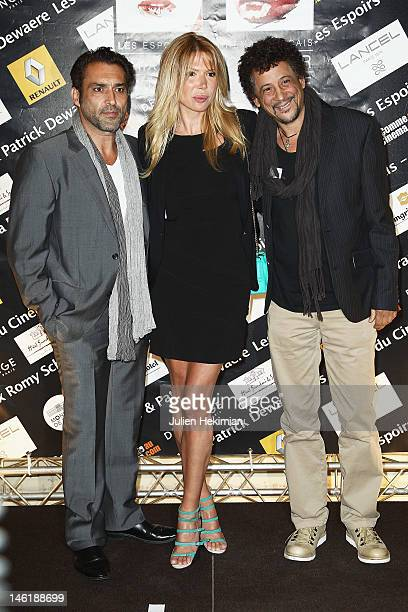 JeanPierre Martins his wife Alexandra Genoves and Abel Jafri attend the Romy Schneider And Patrick Dewaere Awards 2012 at Hotel ShangriLa on June 11...
