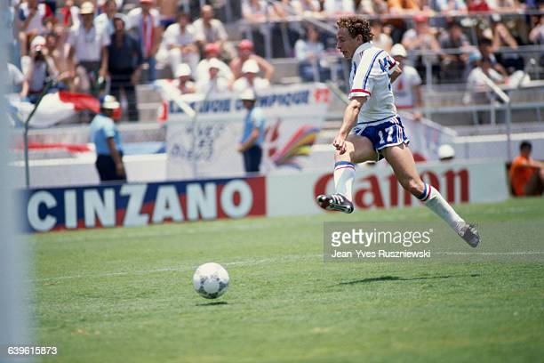 JeanPierre Papin from France during a first round match of the 1986 FIFA World Cup against USSR