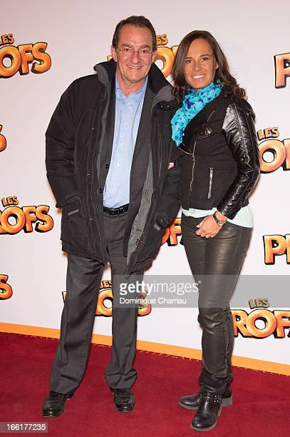 JeanPierre Pernaut and his wife Nathalie Marquay attend the 'Les Profs' Premiere at Le Grand Rex on April 9 2013 in Paris France