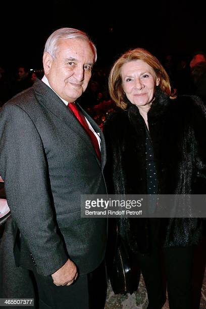 JeanPierre raffarin and Catherine Pegard attend the 'Nuit De La Chine' Opening Night at Grand Palais on January 27 2014 in Paris France