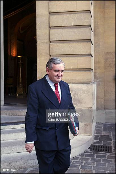 JeanPierre Raffarin Left The Hotel Matignon To The Elysee Palace To Present His Government Formation To Jacques Chirac On July 5Th 2002 In Paris...