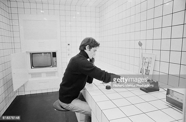 JeanPierre Raynaud Dialing a Phone Inside His La Maison de La CelleSaintCloud