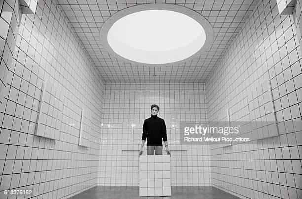 JeanPierre Raynaud Standing Inside His La Maison de La CelleSaintCloud