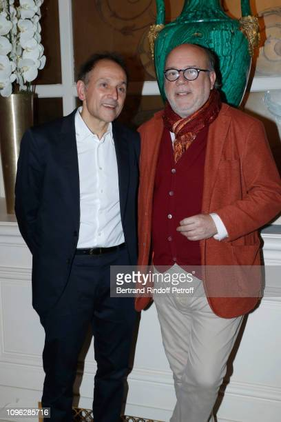 JeanPierre Weill and Academician Marc Lambron attend the Weill Menswear Fall/Winter 20192020 show as part of Paris Fashion Week on January 18 2019 in...