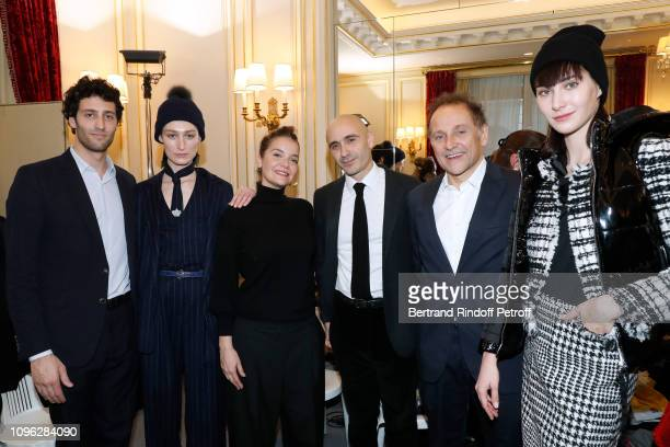 JeanPierre Weill his son Alexandre Weill his nephew Elie Weill and a model attend the Weill Menswear Fall/Winter 20192020 show as part of Paris...