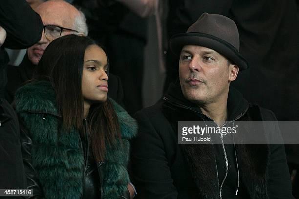 JeanRoch Pedri attends the Paris Saint Germain vs Olympique de Marseille football match at Parc des Princes on November 9 2014 in Paris France
