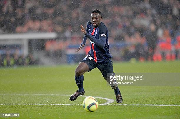 Jeanruns with the ball during the Ligue 1 game between Paris SaintGermain and Lille OSC at Parc des Princes on February 13 2016 in Paris France