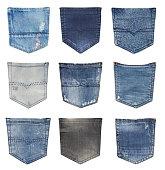 Jeans back pockets