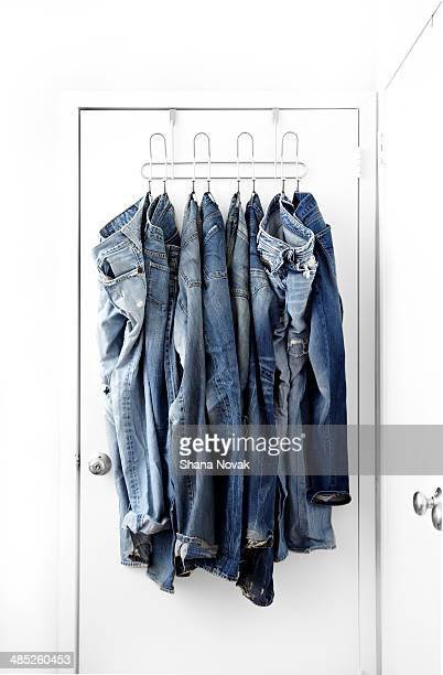 Jeans Hanging on Door