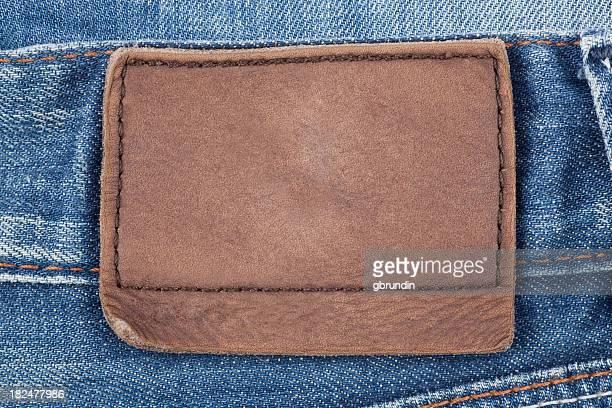 Jeans mit Leder-Aufnäher