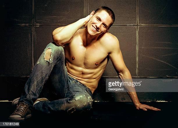 jeans modello - ragazzi fighi nudi foto e immagini stock