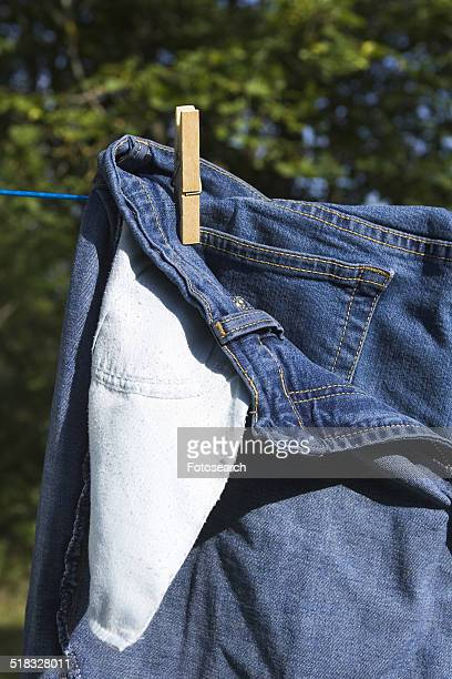 Jeans on the clothesline