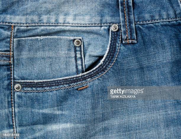 jeans pocket in close up