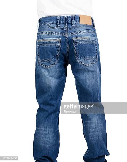 Jeans with a blank label