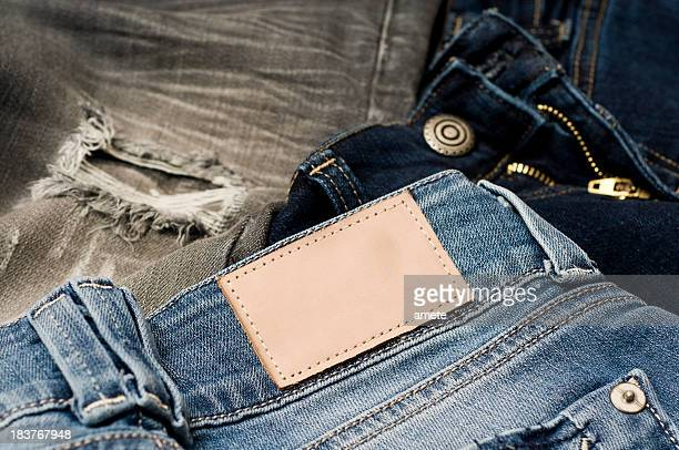 Jeans With A Blank Tab