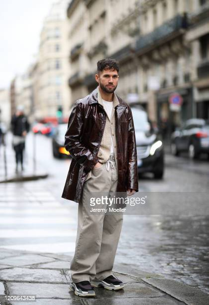 JeanSebastian Roques is seen outside Altuzarra show during Paris Fashion week Womenswear Fall/Winter 2020/2021 Day Six on February 29 2020 in Paris...