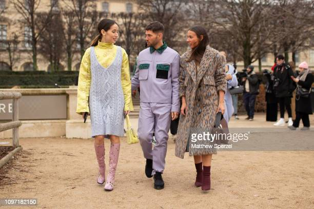 JeanSebastien Rocques and Alice Barbier are seen on the street during Men's Paris Fashion Week AW19 on January 20 2019 in Paris France