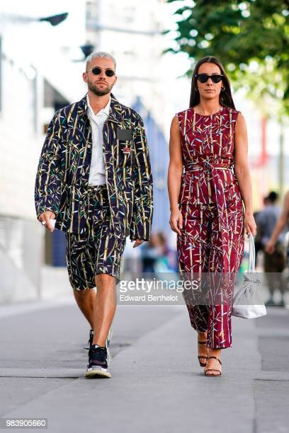 JeanSebastien Roques and Alice Barbier outside 1017 ALYX 9SM during Paris Fashion Week Menswear SpringSummer 2019 on June 24 2018 in Paris France