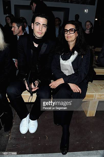 JeanVictor BettencourtMeyers and Francoise BettencourtMeyers attend the Saint Laurent Fall/Winter 2013 ReadytoWear show as part of Paris Fashion Week...