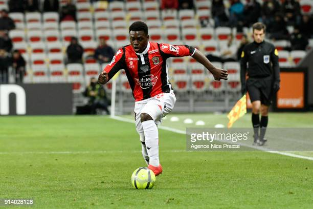 JeanVictor Makengo of Nice during the Ligue 1 match between OGC Nice and Toulouse at Allianz Riviera on February 3 2018 in Nice