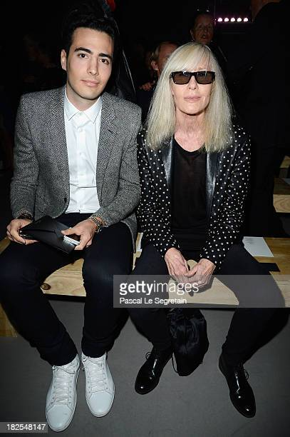 JeanVictor Meyers Bettencourt and Betty Catroux attend the Saint Laurent show as part of the Paris Fashion Week Womenswear Spring/Summer 2014 on...