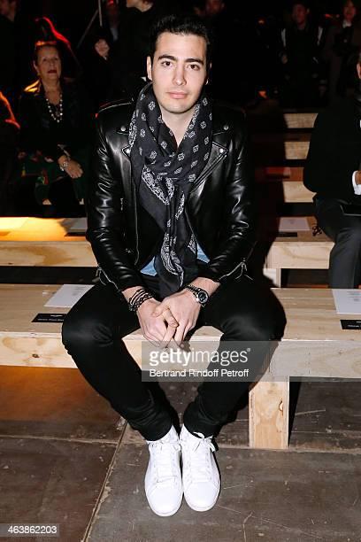 JeanVictor Meyers Bettencourt attends the Saint Laurent Menswear Fall/Winter 20142015 Show as part of Paris Fashion Week on January 19 2014 in Paris...
