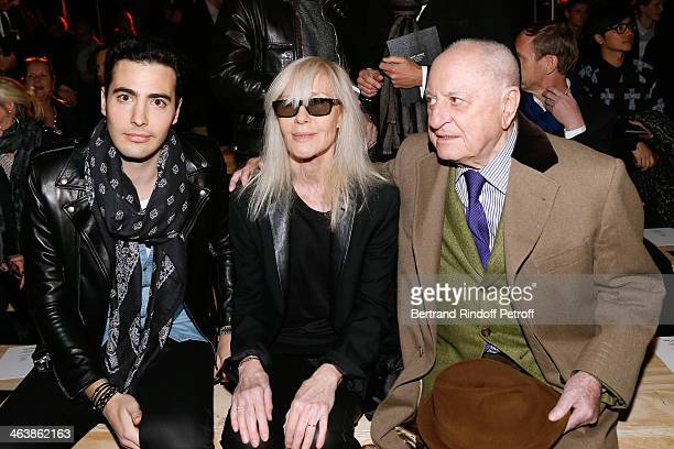 JeanVictor Meyers Bettencourt Betty Catroux and Pierre Berge attend the Saint Laurent Menswear Fall/Winter 20142015 Show as part of Paris Fashion...