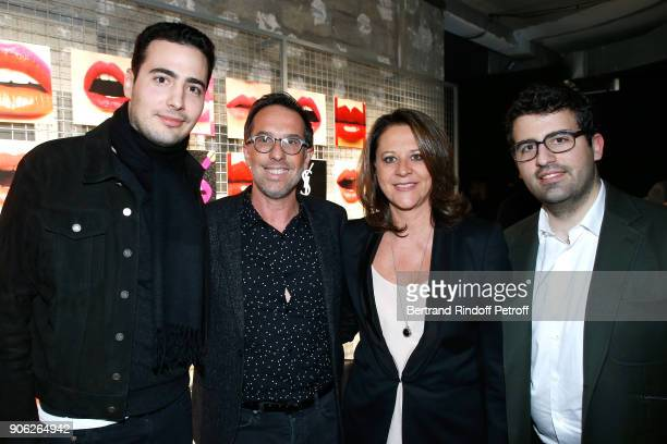 JeanVictor Meyers DG L'Oreal Nicolas Hieronimus his wife Geraldine and Nicolas Meyers attend the 'YSL Beauty Hotel' event during Paris Fashion Week...