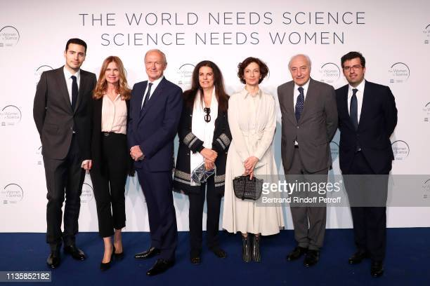 JeanVictor Meyers Sophie Agon her husband Chairman Chief Executive Officer of L'Oreal and Chairman of the L'Oreal Foundation JeanPaul Agon Francoise...