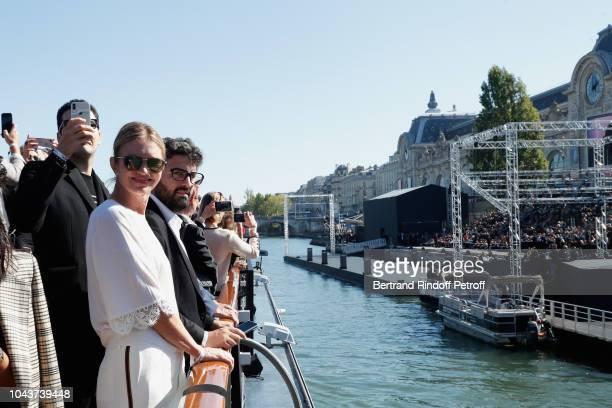 JeanVictor MeyersBettencourt Sophie Agon and Nicolas MeyersBettencourt attend Le Defile L'Oreal Paris as part of Paris Fashion Week Womenswear...