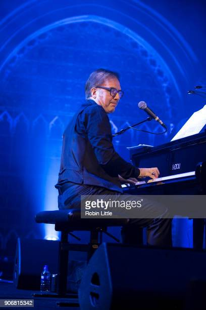 JeanYves d'Angelo performs on stage at the Union Chapel on January 18 2018 in London England