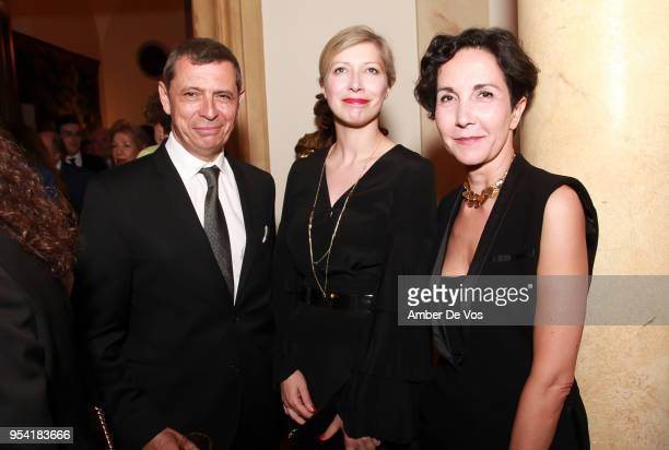 JeanYves Kaced AnneClaire Legendre and Myriam Mazouzi attend the Launch of the Paris Opera 350th Anniversary in New York with the American Friends of...