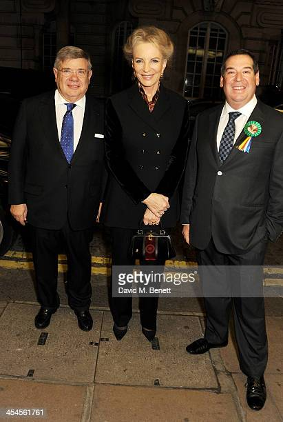 JeanYves Ollivier Princess Michael of Kent and Ivor Ichikowitz attend a special screening of 'Plot for Peace' at The Curzon Mayfair on December 9...