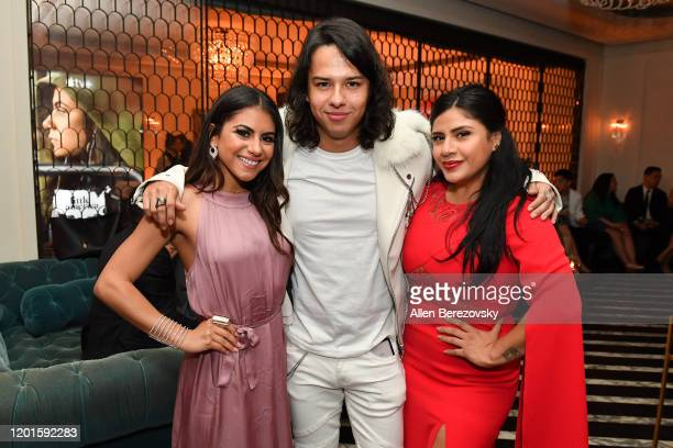Jearnest Corchado Gustavo Gomez and Melinna Bobadilla attend the premiere of Apple TV's Little America afterparty on January 23 2020 in West...