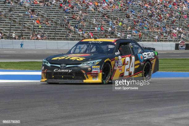 Jeb Burton drives off pit road during the My Bariatric Solutions NASCAR Xfinity Series race on April 8 2017 at Texas Motor Speedway in Fort Worth TX