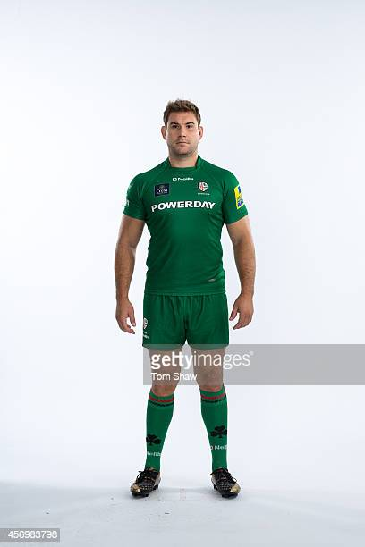Jebb Sinclair of London Irish poses for a picture during the BT PhotoShoot at Sunbury Training Ground on August 27 2014 in Sunbury England