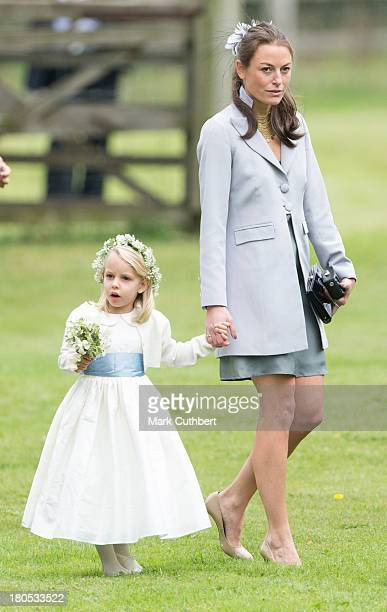 Jecca Craig attends the wedding of James Meade and Lady Laura Marsham at The Parish Church of St Nicholas in Gaytonon September 14 2013 in King's...