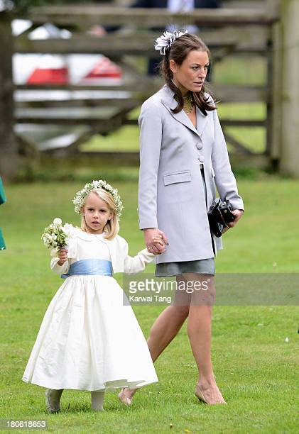 Jecca Craig attends the wedding of James Meade and Lady Laura Marsham at The Parish Church of St Nicholas Gayton on September 14 2013 in King's Lynn...