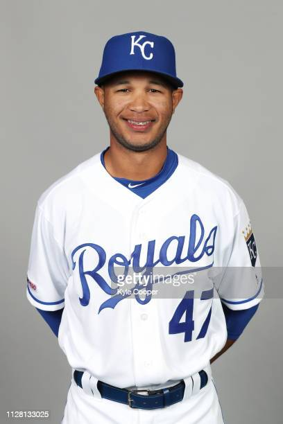 Jecksson Flores of the Kansas City Royals poses during Photo Day on Thursday February 21 2019 at Surprise Stadium in Surprise Arizona