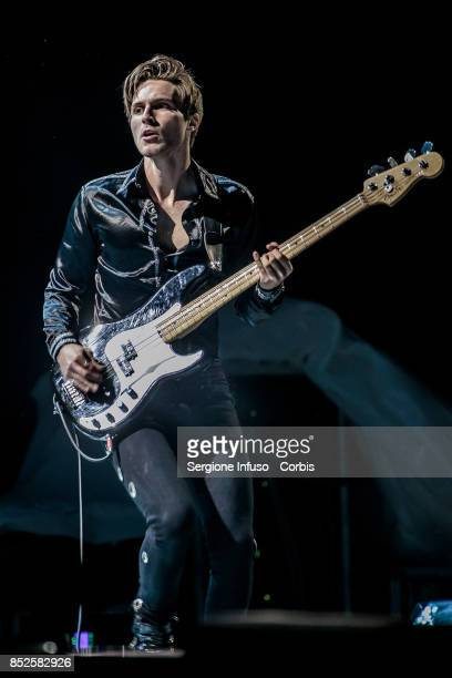 Jed Elliot of The Struts opens the concert of English rock band The Rolling Stones during Lucca Summer Festival 2017 on September 23 2017 in Lucca...