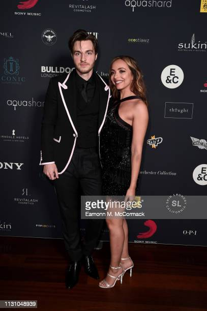 Jed Elliott and Jade Thirlwall attend the Sony Music BRIT awards after party at aqua shard on February 20 2019 in London England